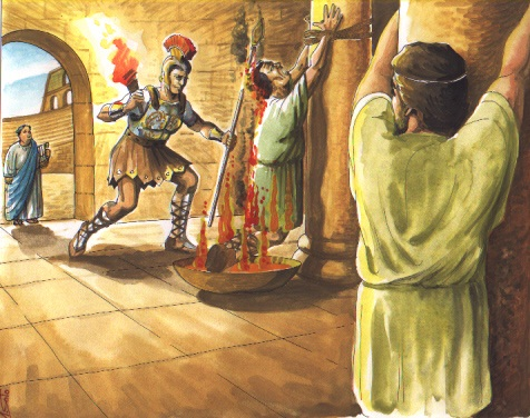 Dos esclavos azotados en la jaula - 2 9