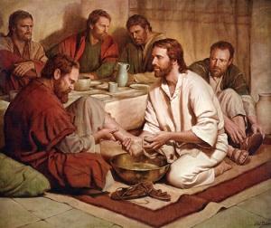 Jesus lava los pies