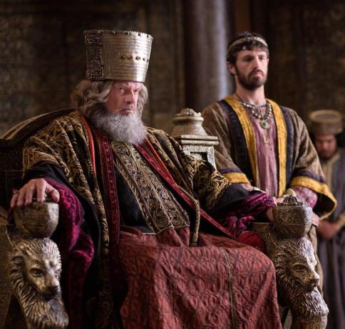 Kelsey Grammer as Herod the Great, the Roman appointed leader of Judea during Jesus' birth. He enacts an execution order in Bethlehem for all male children under the age of five based on a belief that one of these children will be the next King of the Jews.??(photo credit:  National Geographic Channels/Kent Eanes)