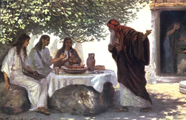 abraham visitantes Genesis-18-2-Abraham_s-visitors